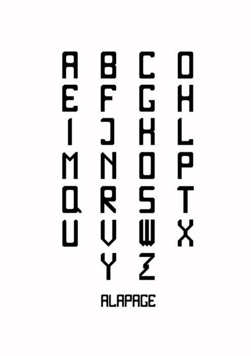 Alphabet simple-01